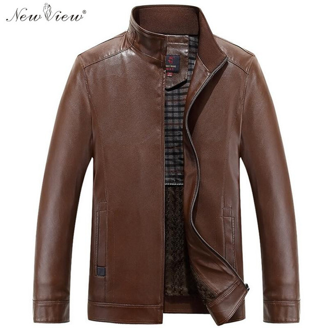 fe3bbfac2ad 2017 Fashion Leather Jacket me Spring Autumn Faux Leather Motorcycle Style  Slim Fit Coat Male