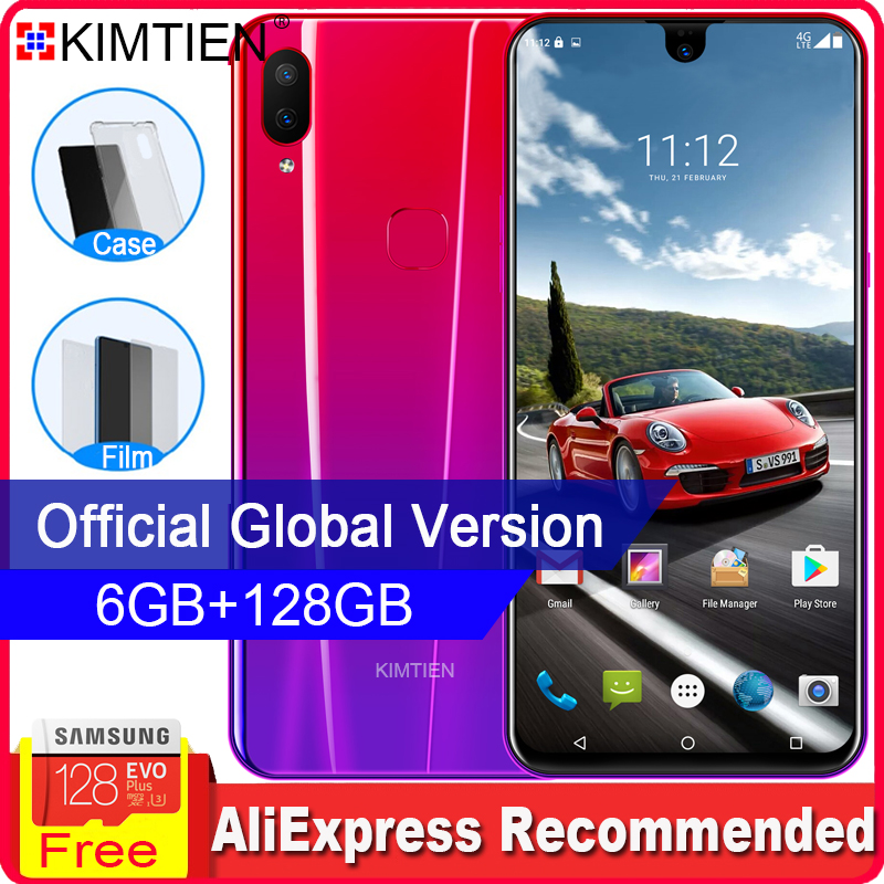KIMTIEN Smartphone Mobile Phone 8GB 128GB 10core 6.2
