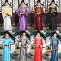 Venta caliente Nuevo 2017 de los hombres Tang traje Tradicional Chino Antiguo Hanfu hombres cosplay más colores etapa de ropa para hombres bata
