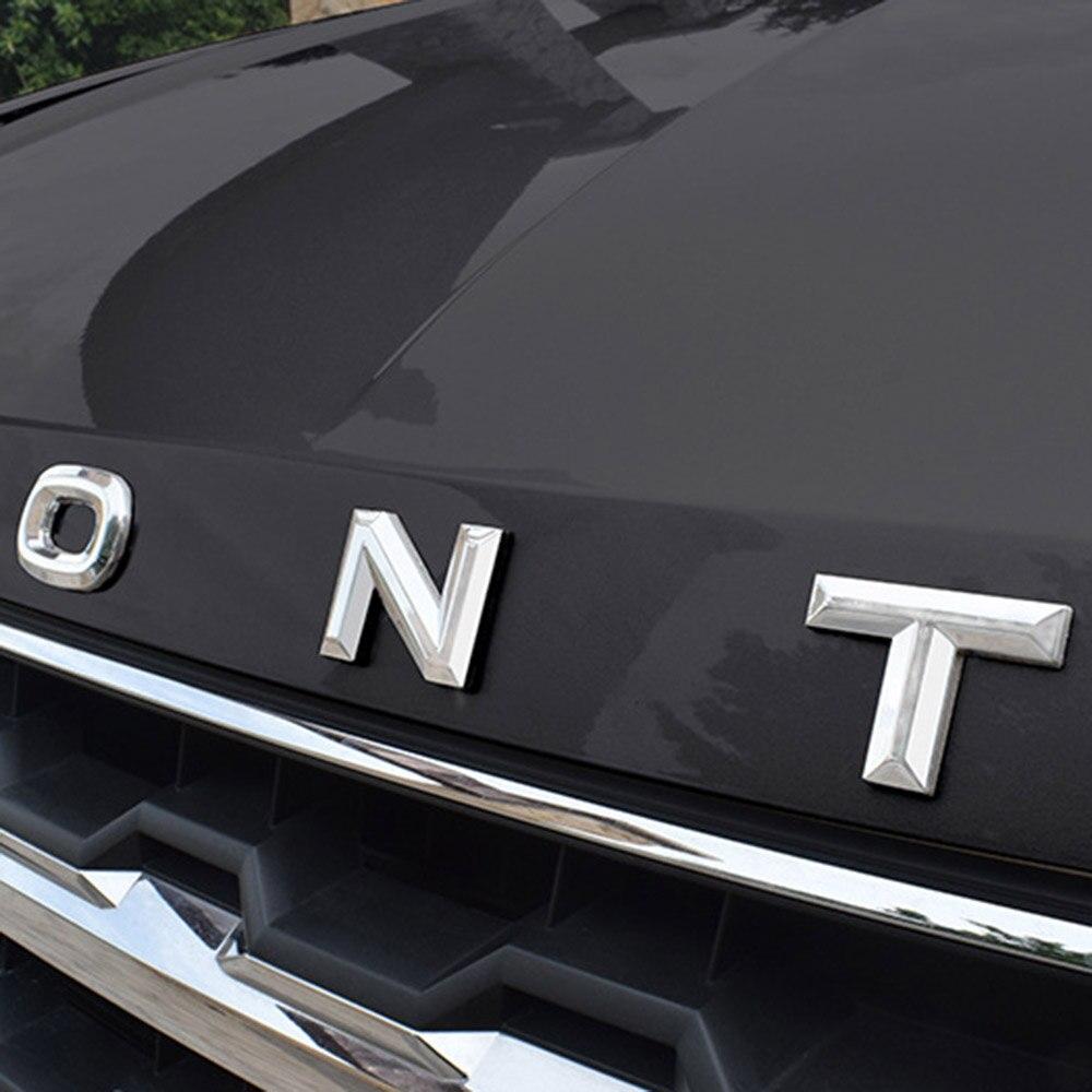 Voiture métal alliage capot emblème 3D LOGO ALPHABET autocollants pour VOLKSWAGEN TERAMONT 2017 2018 accessoires voiture style
