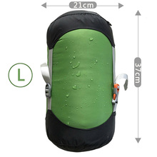 Dry Bag Compression Sack Green Sleeping Laundry Camping Waterproof Nylon Storage Hiking Pack Adjustable Useful