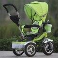Поворотный сиденье! Надувные колеса высококачественного цвет детский трехколесный велосипед коляска детская гольф-кары велосипед открытый веселье для детей
