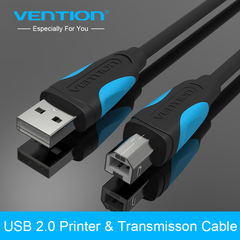 Vention USB 2.0 Printer Cable Type A Male to B Male Scanner Sync Data Printer USB Cable 1m 1.5m 2m 3m For Canon Epson HP Printer цена