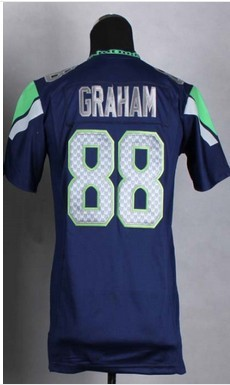 #88 Jimmy Graham Jersey,Kids/Youth Football Jersey,Best quality,Authentic Jersey,Size S--XL,Accept Mix Order
