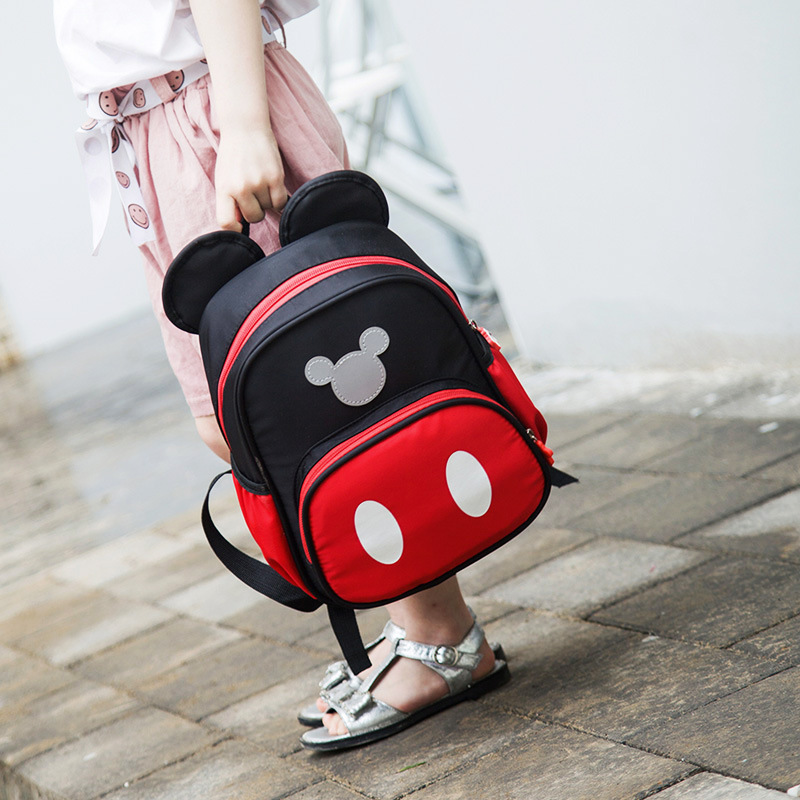 2019 Girls Backpack Mickey Minnie Cartoon Shoulder School Bag Children Travel Backpack Girl Boy Mini Backpacks Mochila Feminina