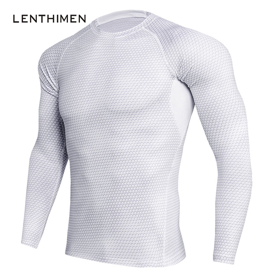 2018 Sportswear Compression Shirt Men Fashion Print 3D T Shirt White Breathable Thermal T-Shirt Skin Tights Brand Clothing MMA