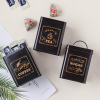 New Rectangle Coffee Beans Sealed Cans Tea Canisters Confectionery Coffee Flour Masks Powder Canisters Tin Can Sugar Bottle
