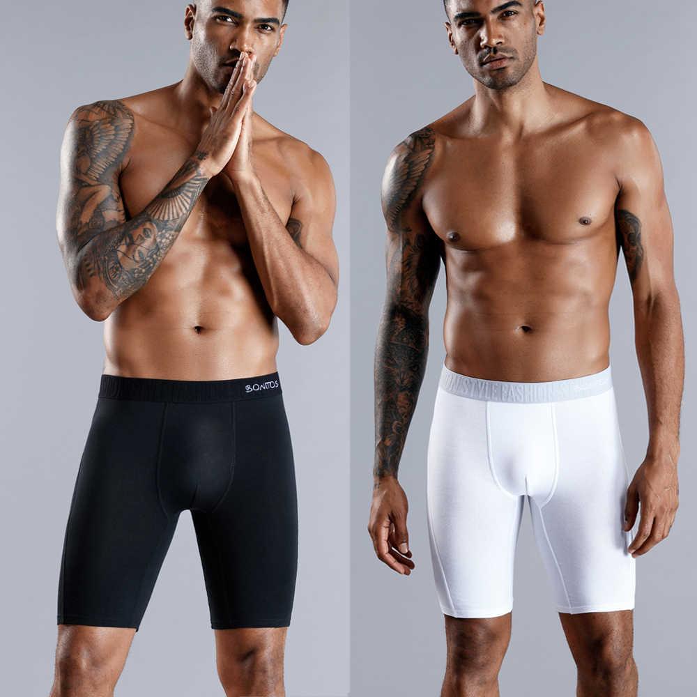SKARR uzun Boxer erkek baksır şort erkek iç çamaşırı pamuk marka erkek iç çamaşırı boksörler seksi Boxershorts külot aşınma altında