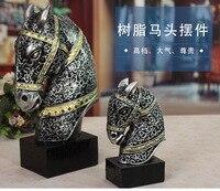 Technology European horse resin ceramic desktop decoration creative gift noble crafts WL5081131