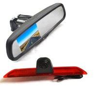 Vardsafe VS868R | Brake Light Reverse Backup Camera + Replacement Mirror Monitor for Ford Transit Van 150 250 350 (2014 2018)