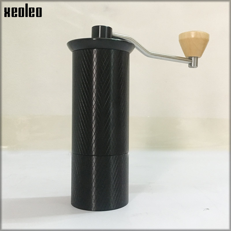XEOLEO Portable Coffee Grinder Manual Coffee Grinder Aluminum Coffee Miller For Espresso Black Espresso Machine Conical Burr