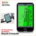 Sunding 576 проводной Велосипедный компьютер с ЖК-подсветкой Цифровой Дисплей велосипедный спидометр  одометр секундомер водонепроницаемый ве...