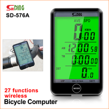 Sunding 576 Wired Cycling Computer LCD Backlight Digital Display Bike Speedometer Odometer Stopwatch Waterproof Bicycle Computer sunding wireless electronic bicycle computer speedometer