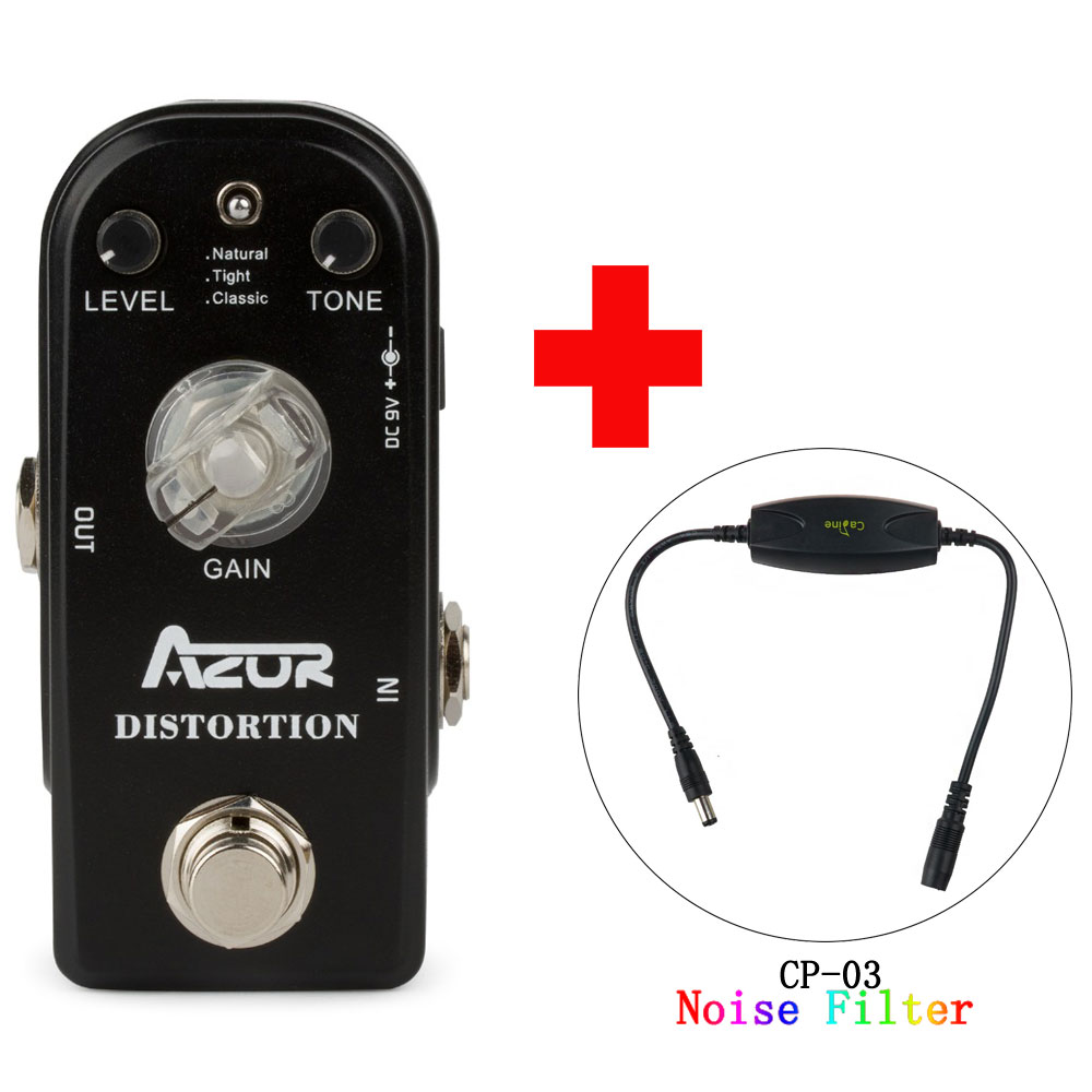 AP-302 Distortion Mini Guitar Effect Pedal Classic Natural Tight effext True Bypass and Caline CP-03 Noise Filter mooer ensemble queen bass chorus effect pedal mini guitar effects true bypass with free connector and footswitch topper