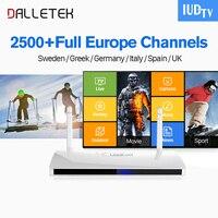 Dalletektv IP TV Europa IPTV Box Leadcool Android 6.0 TV Box IUDTV Code 2500 + IPTV Italia Portugal Zweedse Arabisch IPTV Top Box