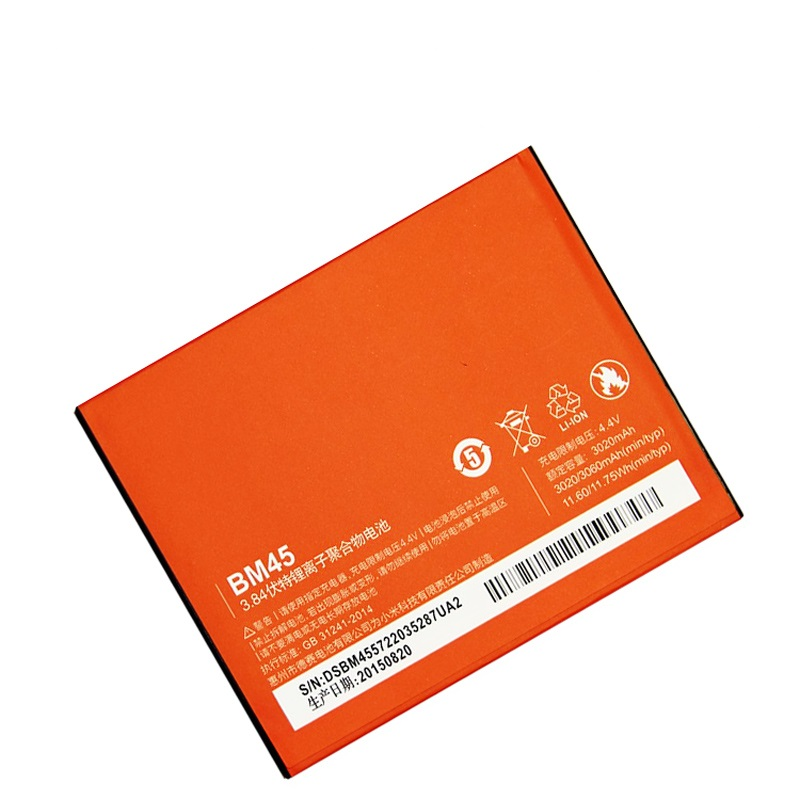 3060mAh BM45 Batteries For Xiaomi Redmi Note 2 Battery Red Rice Note2 For Hongmi Note 2 Battery