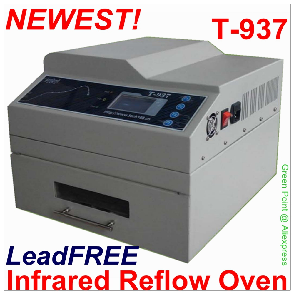 PUHUI Authorized T 937 Desktop Leadfree Reflow Oven Infrared IC Heater T937 Reflow Solder Oven BGA