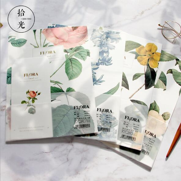 1 Pack Pretty Flora 3pcs Envelopes 6pcs Letters Festival Gift Card Thanksgiving Gift Envelope Letters School Stationery