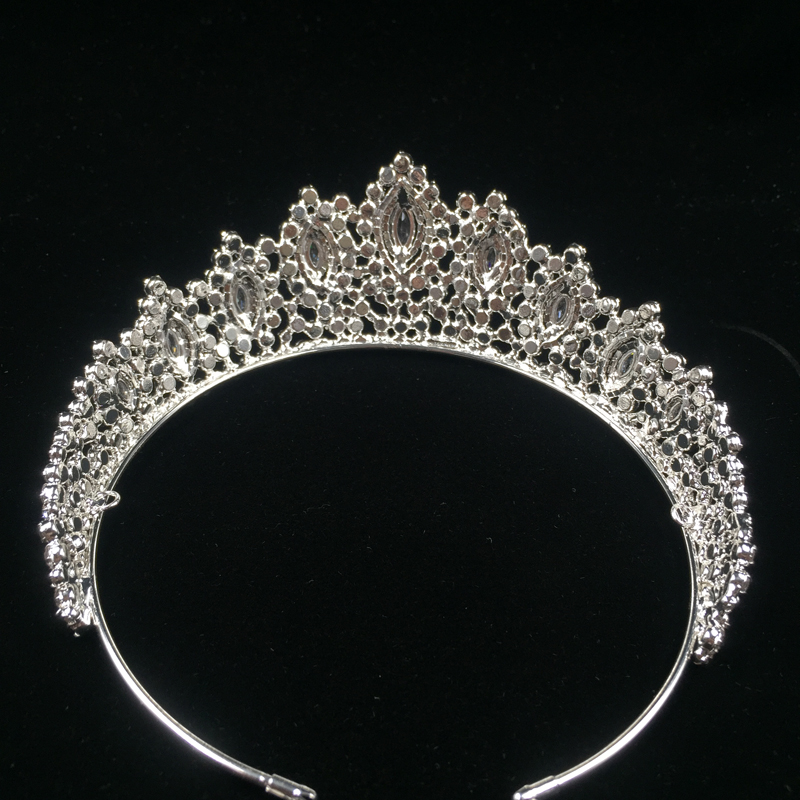 Image 3 - Hadiyana New AAA Rhinestone Crowns Vintage Style Big Eye Shape  Wedding Accessories Bridal Hair Tiaras Yellow Gold Party BC3707Hair  Jewelry