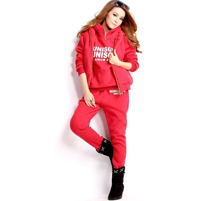 e992da51ef8 Two Piece Set Outfits Tracksuit Autumn Clothes 2 Piece Set Women  Hoodies Vest Pants 3pcs Plus Size 6XL Conjunto Feminino Roupas