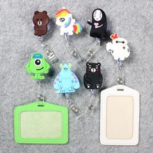 Cartoon Badge Scroll Nurse Office Reel Cute Character Scalable School Student Exhibition ID Business Card Holder