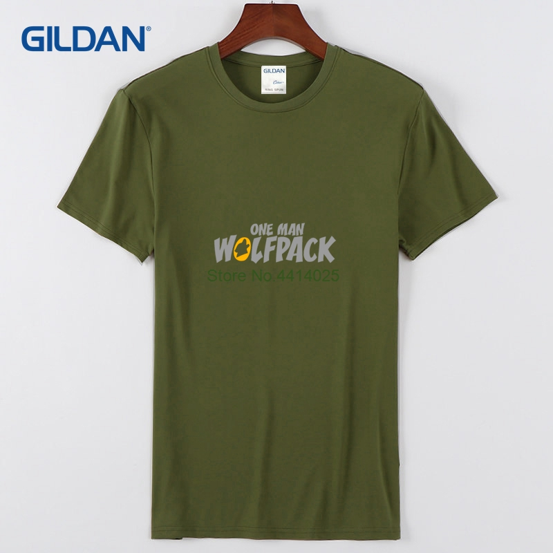 5bffab633 Funny Political T Shirts 2018 One Man Wolfpack Plain White Tees Mens Cloth  Mens T-Shirt Low Price