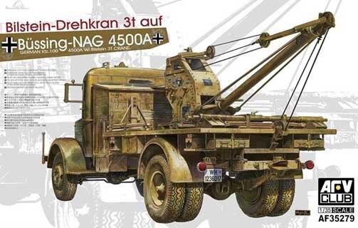 ФОТО AFV Club 1/35 Kfz.100 Bussing Nag 4500A W/ Bilstein 3T CRANE #35279