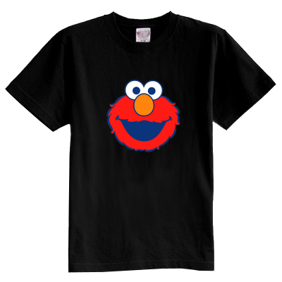 Children's T shirt summer short sleeve 100% cotton boy girl kid t shirt Sesame Street Elmo ELMO
