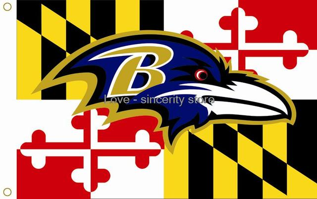 Top Baltimore Ravens Baltimore Orioles Maryland Flag 3ft x 5ft-in  UE52