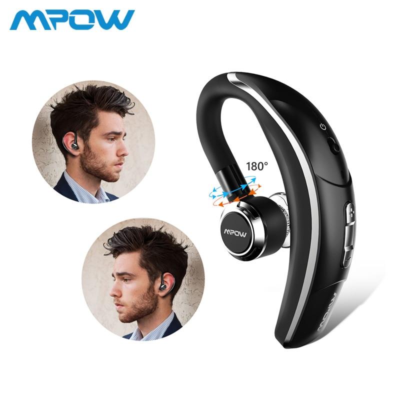 Mpow BH028 Único Carro Sem Fio fone de ouvido Fones de Ouvido Fones De Ouvido Com Microfone Portátil Kit Mãos Livres bluetooth 4.1 180 Rotação Para o iphone X 8