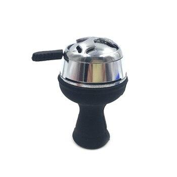 1 PC Terpolarisasi-Light Metal Shisha Hookah Bowl Arang Pemegang Hookah Kepala Arang Kompor Burner Heat Keeper