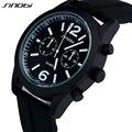 SINOBI Brand Men's Silicone Strap Casual Sports Watches Man Shock Water Resistant Brand Male Quartz-Watch