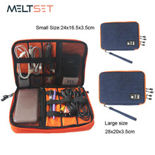 Waterproof Ipad Storage Bag Organizer USB Cable Earphone Pen Power Bank Travel Kit Case Digital Gadget Devices