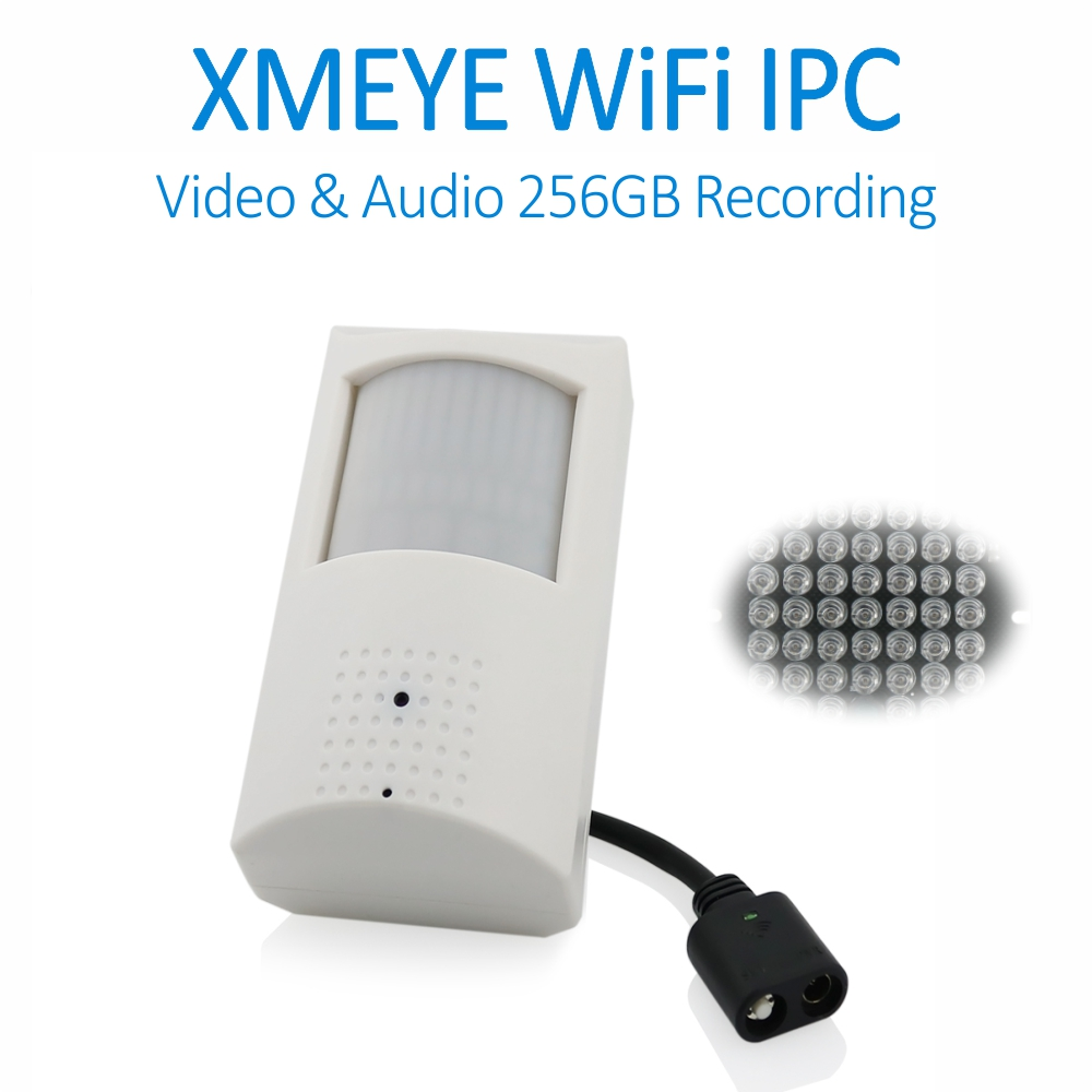 XMEYE Covert 1080P Audio TF Card Recording Wireless PIR Cam with 940nm IR LED Built in