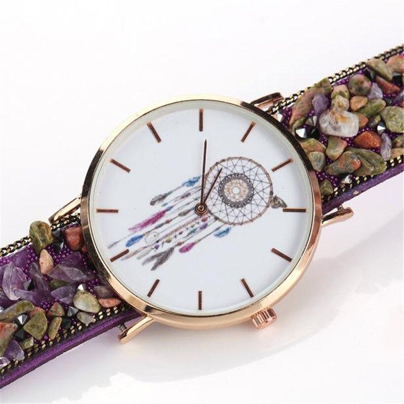 Женщины Часы Мужчины relogio masculino reloj Нежный Новая Мода Обернуть Вокруг Браслет Смотреть булыжник Синтетические Цепи Часы 5 *