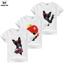 DMDM PIG Teenage T Shirts Kids Short Sleeve T Shirts For Boys Girls Tops Children s