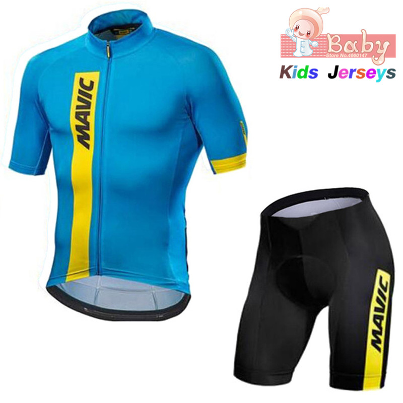 2019 Mavic Breathable Quick Dry Kids Cycling Jersey Set Pro Team Children Bike Clothing Boys Summer Bicycle Wear Cycling Shorts2019 Mavic Breathable Quick Dry Kids Cycling Jersey Set Pro Team Children Bike Clothing Boys Summer Bicycle Wear Cycling Shorts