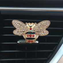 Bees car air outlets fresheners solid perfume women fashion glittering auto accessories girl interior decoration