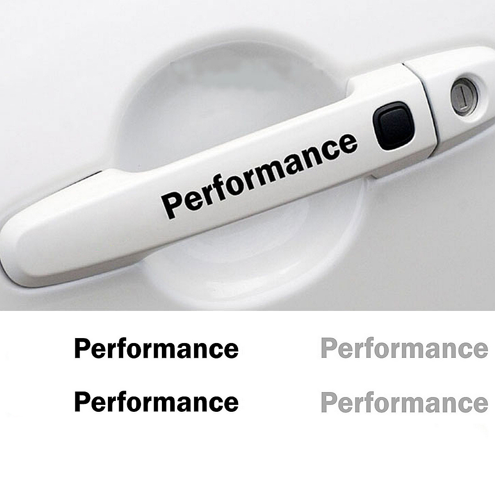 ///M Performance Door Handle Cover Rearview Mirror Sticker <font><b>Dashboard</b></font> Decal For <font><b>BMW</b></font> e46 e39 e36 e90 e60 x5 e53 <font><b>e30</b></font> f30 f10 4pcs image