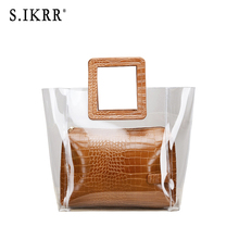 S.IKRR Summer mother bag transparent lady jelly multicolor luxury designer handbags high quality