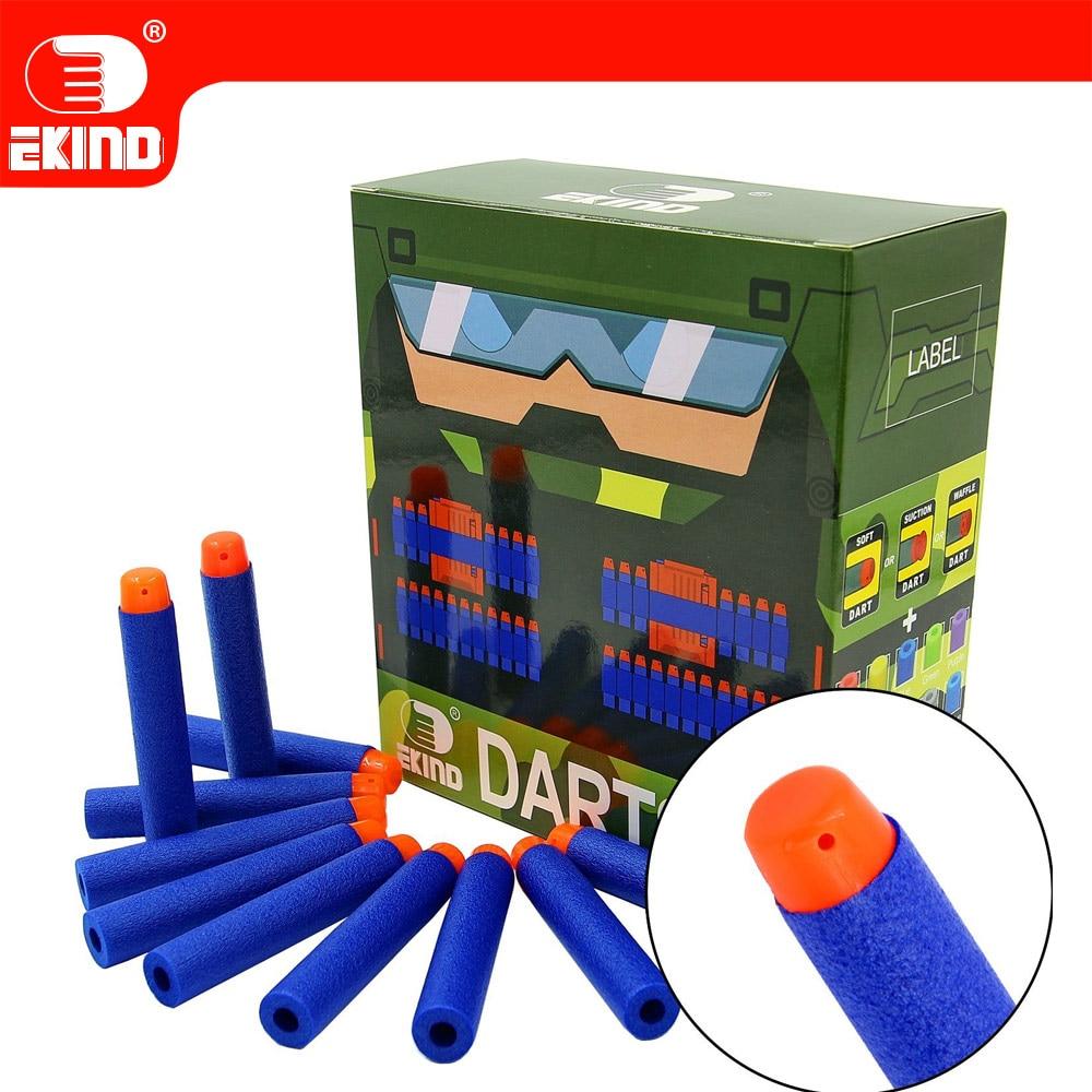 100pcs Soft Darts Of EKIND 7.2cm Refill Bullets For Nerf  N-strike Elite Outdoors Series Blasters Kid Toy Gun Games