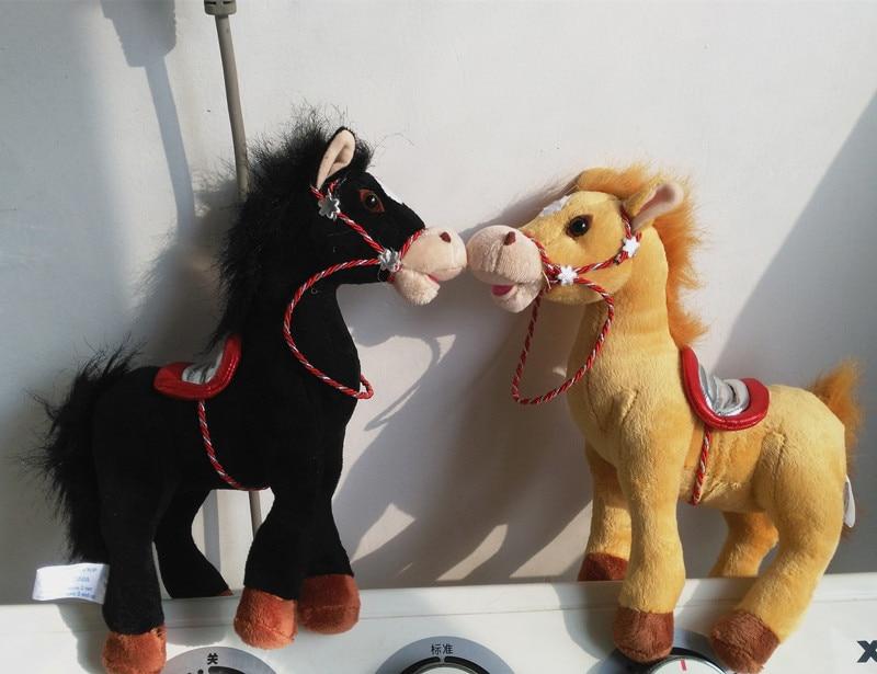 Russian Language Intelligent Talking Black Dark Horse Stuffed Plush