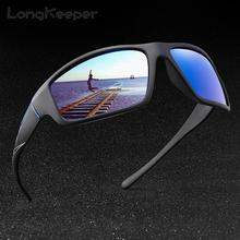 LongKeeper Men's Sunglasses Male Polarized Mirror Sun glasse
