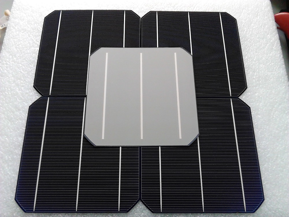 100PCS 4.8W Mono Cell Solar Panel 156*156MM PV Photovoltaic Mono DIY Kit Grade A