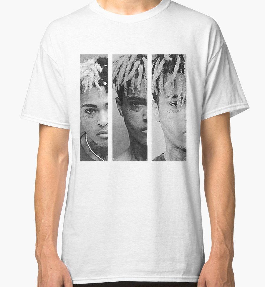 Cool Tees Short Sleeve Fashion 2018 Crew Neck Mens Xxxtentacion Triple X Mug Shot New T Shirt Mens White Tees ...