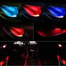JURUS 4 шт., универсальная светодиодная внутренняя лампа, подлокотник, внутренняя дверная ручка, освещение, перила, декоративная лампа, лампа, автомобильные фонари