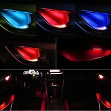 JURUS 4Pcs Universal LED Inner Bowl Light Armrest Interior Door Handle Lighting Handrail Lights Decorative Lamp Bulb Car