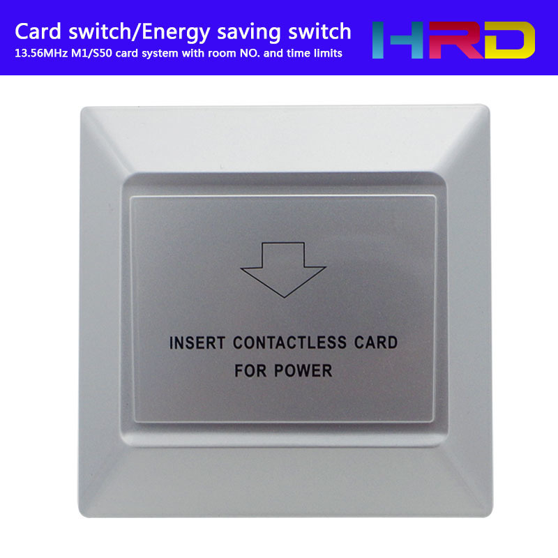 Sliver Color Special Design Luxury Hotel Guest Room Keycard System Energy Saver Power Saving Switch M1 13.56MHz Type