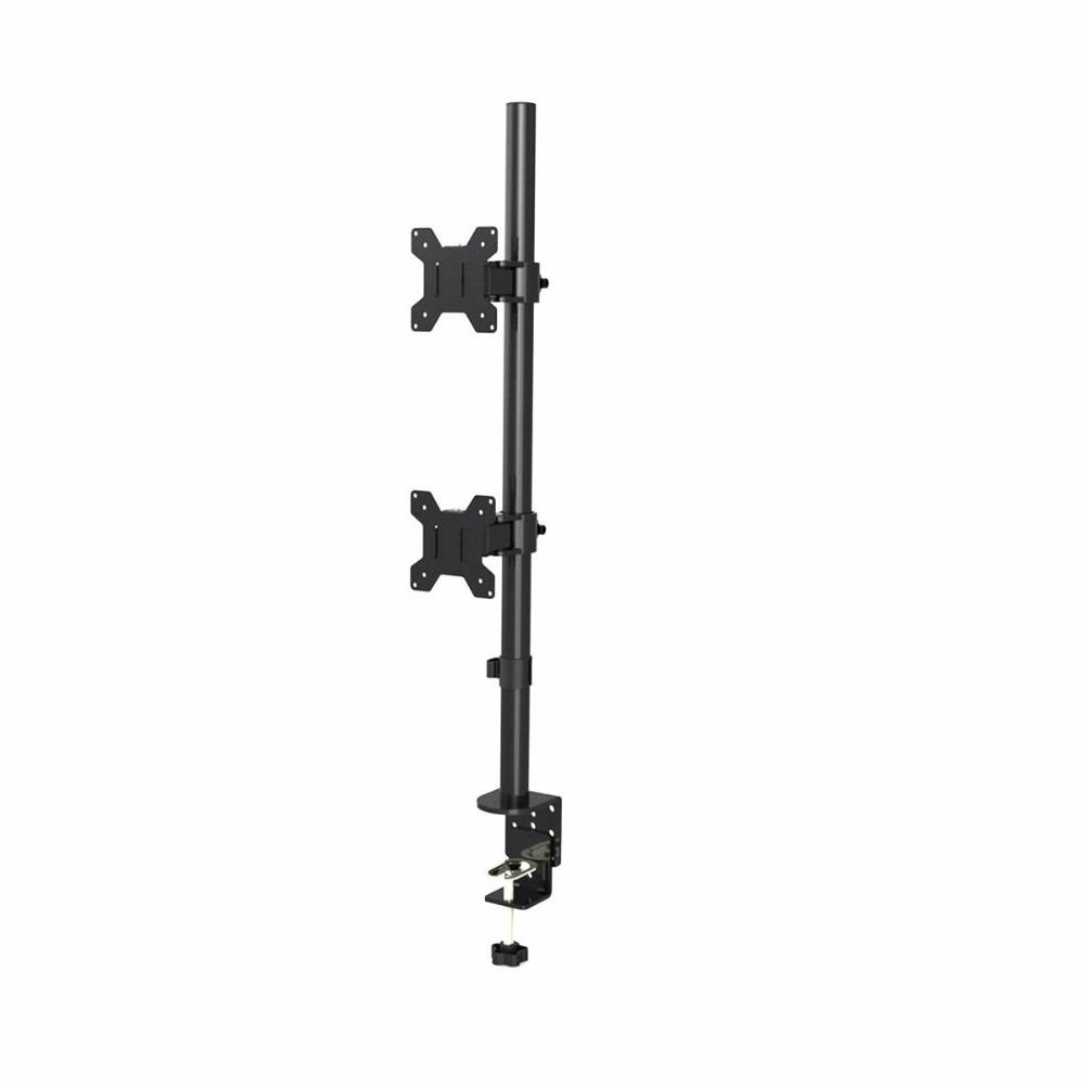 Suptek Dual LCD LED Monitor Stand Desk Mount Bracket Heavy Duty Stacked, Holds Vertical 2 Screens up MD6802(China)