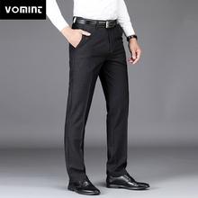 Vomint 2019 New Mens Pants Elasticity Solid Simple Pants Trousers Cotton Men s Work Pants High